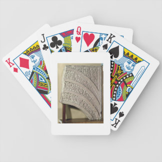Architrave from a gateway, red sandstone, Mathura, Bicycle Playing Cards