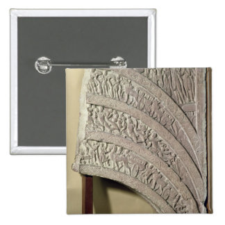 Architrave from a gateway, red sandstone, Mathura, Pinback Buttons