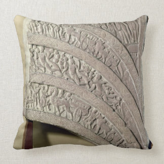 Architrave from a gateway, red sandstone, Mathura, Throw Pillow