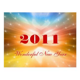 archival Wonderful New Year 2011 - Postcard