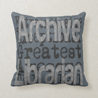 Archive Librarian Extraordinaire Throw Pillow
