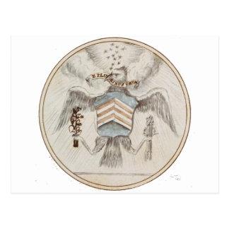 Archive Presidential Seal Sketch Postcard