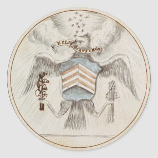 Archive Presidential Seal Sketch Classic Round Sticker
