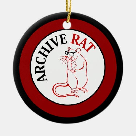 Archive Rat (Version 1) Ceramic Ornament