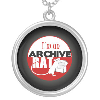 Archive Rat (Version 2) Silver Plated Necklace
