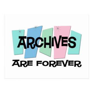 Archives Are Forever Postcard