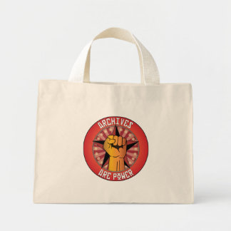 Archives Are Power Mini Tote Bag