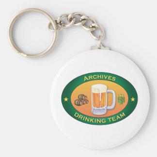 Archives Drinking Team Keychain