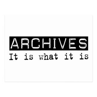 Archives It Is Postcard
