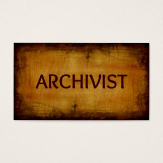 Archivist Antique Brushed Business Card