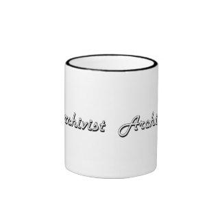 Archivist Classic Job Design Ringer Mug