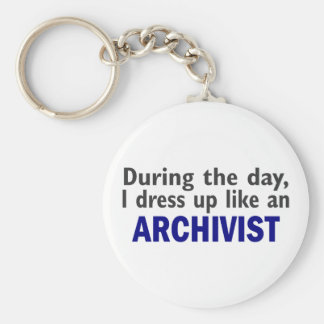 ARCHIVIST During The Day Basic Round Button Keychain