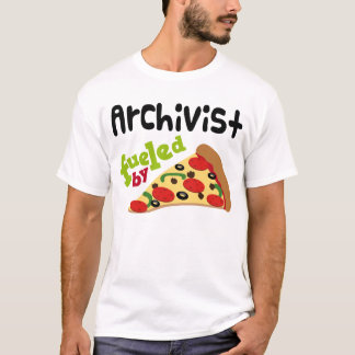Archivist (Funny) Pizza T Shirt