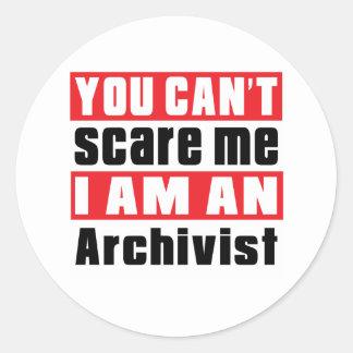 Archivist scare designs classic round sticker