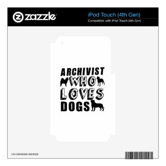 archivist Who Loves Dogs iPod Touch 4G Decals