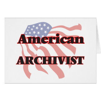 Archivista americano tarjeta pequeña