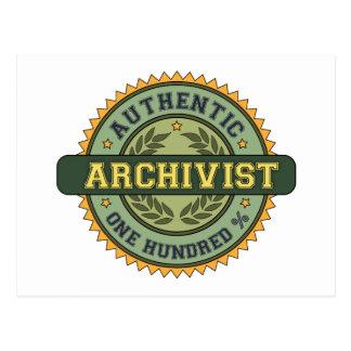 Archivista auténtico tarjetas postales