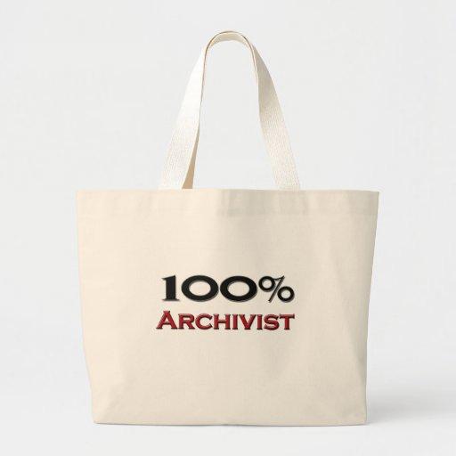Archivista del 100 por ciento bolsas