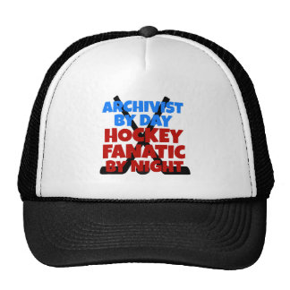 Archivista del amante del hockey gorro