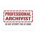 Archivista profesional tarjeta postal