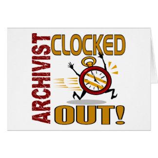 Archivista registrado hacia fuera tarjeta