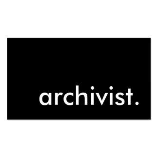 archivista tarjetas de visita