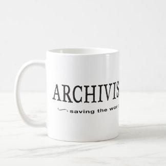 Archivistas - ahorro del mundo tazas