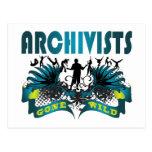 Archivistas idos salvajes tarjetas postales
