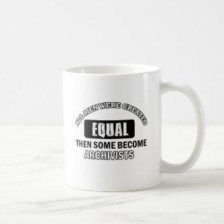 Archivists job designs coffee mug
