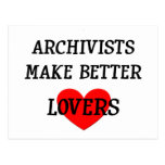 Archivists Make Better Lovers Postcards
