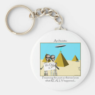 Archivists - Preserving the Past (Aliens) Basic Round Button Keychain