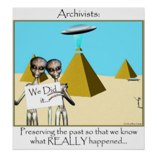 Archivists - Preserving the Past (Aliens) Poster