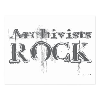 Archivists Rock Postcard