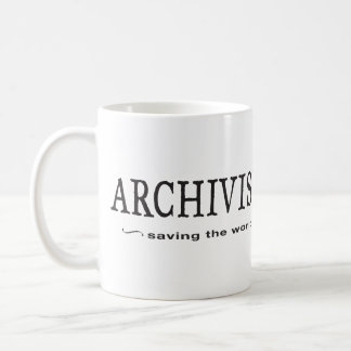 Archivists - Saving the World Classic White Coffee Mug