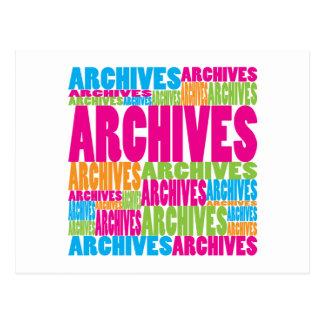 Archivos coloridos postal