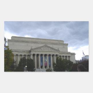 Archivos nacionales pegatina rectangular