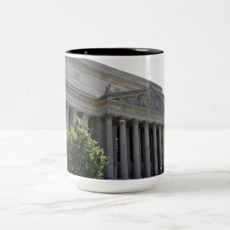 Archivos nacionales taza de café de dos colores