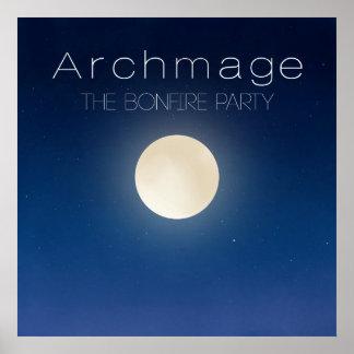 Archmage Official Bonfire Party Matte Poster