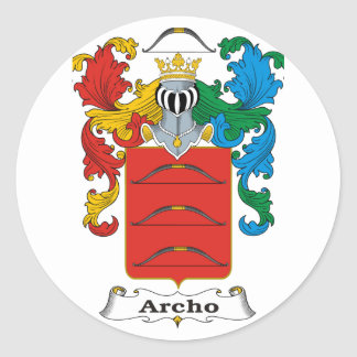 Archo Family Hungarian Coat of Arms Round Stickers