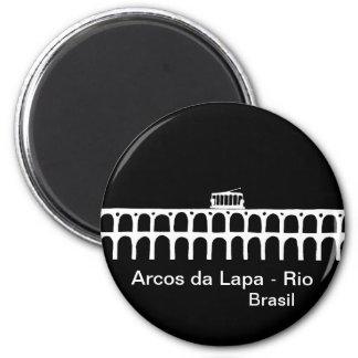 Archs de Lapa - Río de Janeiro Imán Redondo 5 Cm