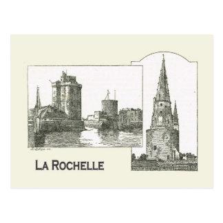 Archtecture, La Rochelle, entrada de puerto, Tarjetas Postales