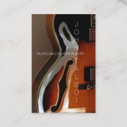 Archtop Guitar Player Custom V Business Card