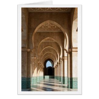 Archway at Hassan II Mosque, Casablanca, Morocco Card