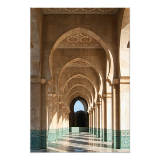 Archway at Hassan II Mosque, Casablanca, Morocco Photo Print