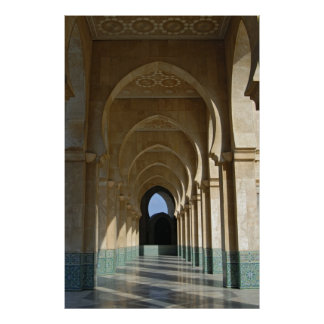 Archway Gallery at Hassan II Mosque, Casablanca Poster