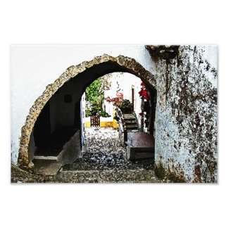 Archway in Obidos Portugal Art Photo