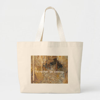 Archway of Cavern Flowers Large Tote Bag