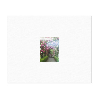 Archway of Flowers Canvas Print