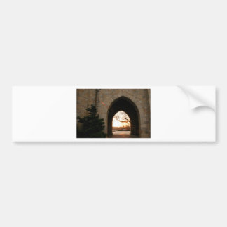 Archway Sunset With Bush Bumper Sticker