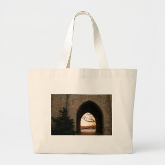 Archway Sunset With Bush Large Tote Bag